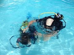 Scuba Diving for Kids at Sands Beach (Sands Beach Lanzarote) Tags: kids hotel dive scuba diving resort program active sandsbeach calipso childrenbubble