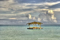 GHB - floating hut - hdr (hgrapek) Tags: travel blue vacation color green art water clouds fun nikon rich gray peaceful weathered bahamas hdr carribbean exciting multipleexposures photomatixpro d7000