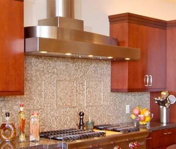 Campana extractora pieza basica en la decoracion de la cocina - Campanas de cocina de cristal ...