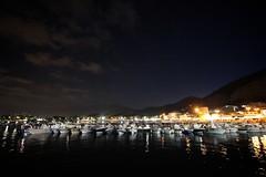 Mondello (Stefano) Tags: summer italy night boats pier italia estate barche porto sicily palermo notte sicilia 2012 mondello
