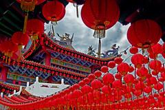 Lanterne (www.cristianruboni.com) Tags: red holiday temple lights asia malaysia lantern kualalumpur vacanze