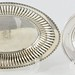 1034. Sterling Silver Bread Tray & Bottle Coaster