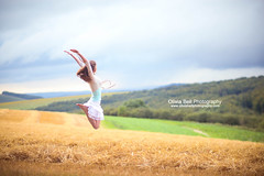 Jumping is Calming - Jump #93 of #100 (Olivia L'Estrange-Bell) Tags: jump jumping wheat harvested jumpjumpjump 100jumps 100jumpsproject 100jumpphotographs