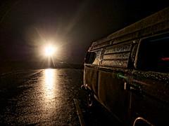 Campervan at the lighthouse - explore :) (petrova fossil :)) Tags: lighthouse rain vw night scotland camper campervan type2 mullofgalloway lighthousetrek