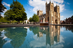 Bristol (Mathew Roberts) Tags: uk light reflection green college church bristol landscape cityscape cathedral filter lee avon harbourside