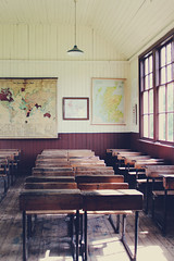 Everybody learns from disaster (Signare Creative) Tags: old school scotland classroom desk room grade class tables