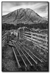 Gateway to An Torr B&W (seagr112) Tags: bw mountain scotland gate gateway glencoe stonewall signalrock clachaiggully glencoemassacre sonya900 antorr
