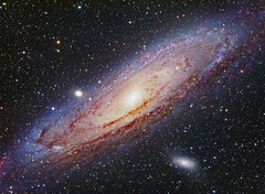 "M31 Andromeda Galaxy  ""Neighbor of a Grand Design"" (Terry Hancock www.downunderobservatory.com) Tags: m31 the great andromeda galaxy hydrogen alpha hii regions lrgb ngc224 messier m32 m110 thomas m back tmb92ss f55 apo refractor starlightxpress lodestar autoguider ultra slim off axis guider at2ff observatory ccd astro fotografie astronomie astronomy photography backyard byo camera images imaging night pier shed sky stars telescope teleskop universe cosmos space science photos deepsky qhy9m monochrome mono luminance paramount gt110s mks4000 Astrometrydotnet:version=14400 Astrometrydotnet:id=alpha20120874162952 Astrometrydotnet:status=solved wow flickrsfinestimages1 flickrsfinestimages2 flickrsfinestimages3"