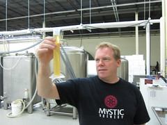 Brian measuring out some wort (jeferonix) Tags: beer diy yeast spectrometer plots spectrometry openhardware openscience publiclaboratory mysticbrewery
