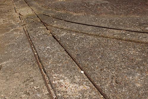 Rail d'une ancienne scierie