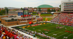 Byrd Stadium Tilt-Shift (mrbrkly) Tags: college field one coast football athletic acc university stadium mary capital colonial shift maryland william atlantic conference tribe tilt association byrd terrapins caa