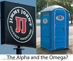 JimmyJohns-AlphaOmega.Small (Scott Strehlow) Tags: stpaul minneapolis location irony mn statefairgrounds portopotty jimmyjohns