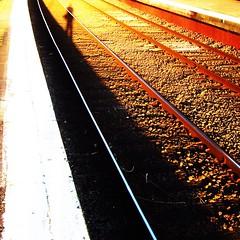 Auburn station tonight - me (Andrew Sampson (andysampsonite on instagram)) Tags: light shadow me station auburn squared snapseed