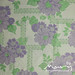 Vintage sheet - purple floral lattice