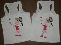 Menina Tenista. (Kaasf) Tags: artesanato artesanal patch patchwork camiseta customizada estilizada patchcolagem caamis patchapliqué patchapliqueé