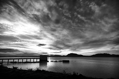 Kolavai Lake (bmahesh) Tags: blackandwhite cloud india lake water canon canon5d chennai mahesh cloudscape tamilnadu canonef24105mmf4isusm chengalpet canoneos5dmarkii kolavai kolavailake bmahesh