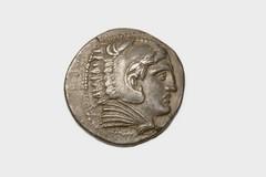 greeksylloge653 (AW39) Obverse (Manchester Museum) Tags: silver coin herakles tetradrachm amphipolis