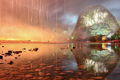 Fire On the Mountain (craigkass) Tags: china nightphotography night liriver asia fireworks guilin yangshuo karst guangxi