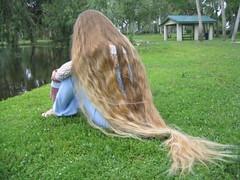 Hair on grass (Fyrill) Tags: hair long very blonde