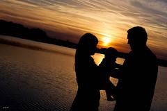 The T Family (Michel Waltrowski) Tags: family famille sunset orange baby sun nature 35mm soleil dad lac centerparcs mum papa backlit maman bb contrejour coucherdesoleil ailette lacdailette