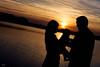 The T Family (Michel Waltrowski) Tags: family famille sunset orange baby sun nature 35mm soleil dad lac centerparcs mum papa backlit maman bébé contrejour coucherdesoleil ailette lacdailette