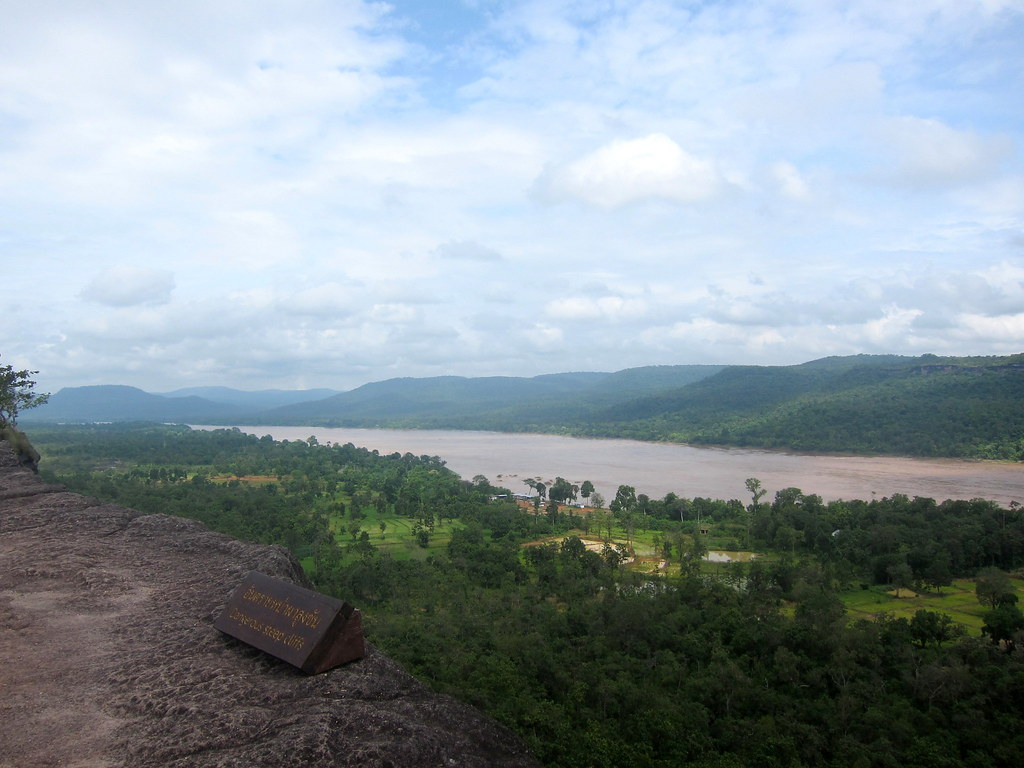 View to Laos, Pha Taem National Park, Northeast Thailand