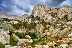 Lone Pine Lake (Dave Toussaint (www.photographersnature.com)) Tags: california ca travel usa lake nature water creek photoshop canon landscape photo interestingness interesting photographer mt cs2 hiking picture august hike explore trail socal adobe portal sierras southerncalifornia mountwhitney lonepine 2008 hdr highdynamicrange highsierra blend adjust infocus simplify easternsierra photomatix thegalaxy denoise 60d topazlabs photographersnaturecom davetoussaint photoengine mygearandme oloneo flickrstruereflectionlevel1