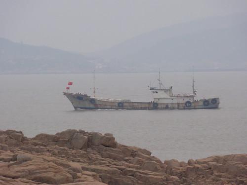 Fishing boat close to Putuoshan
