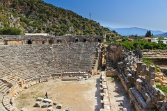 The Ancient Town of Myra, Southern Turkey (Maria_Globetrotter) Tags: santa city st turkey town ancient ruins day village theatre roman south trkiye tomb amphitheatre ruin sunny clear southern nicholas antalya ruinas frans claus province myra lycia turkiet ince mariasweden kafinike