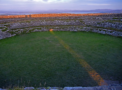 Sunrise from Grianan (paddyrathbone) Tags: pink ireland sky sunlight mist clouds sunrise dawn ruins sunrays donegal rath inishowen ringfort loughswilly autumnequinox griananofaileach morninglandscape lakeofshadows historicalireland nikoncoolpixs8100 earthenergysite