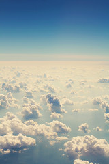 Beyond the Clouds (Neil (Emotional Pop)) Tags: blue sky cloud clouds airplane flying orlando florida aircraft flight aeroplane