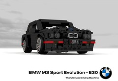 BMW M3 Sport Evolution Coupe (E30 - 1989) (lego911) Tags: bmw e30 m3 3series evolution sport coupe s14 1989 1980s auto car moc model miniland lego lego911 ldd render cad povray german germany racer