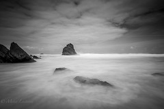 Darkside (Mika Laitinen) Tags: atlanticocean beach canon7dmarkii cliff cloud europe landscape leebigstopper leefilters leendgrad longexposure nature ocean outdoor portugal praiadaadraga rock sea seascape shore sky summer tokina1116mm water wideangle colares lisboa pt blackandwhite bw