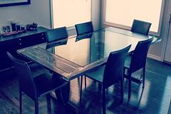 Dining room table (forgearama) Tags: steel iron repurposed cogs gears metal alberta edmonton yeg frontstepforge diningroomtable diningtable tables table