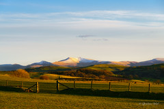 Sunset with Pen y Fan (grahamvphoto) Tags: outdoor sky mountains wales uk clouds travel tourism breconbeacons penyfan landscape sony snow