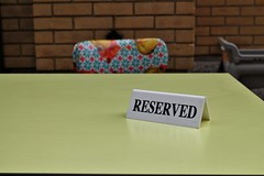Reserved (The Relevant Authorities) Tags: table seat reserved reservation typography sign tabletent tent