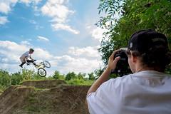 #work (Molnar Gabor) Tags: video videograph videographer videography canon bmx sport dirt sky bike bicycle cycle jump capturing tailwhip extreme cameraman camera dslr