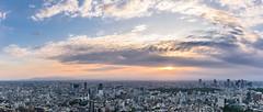 Tokyo Panorama (francesco.chilelli) Tags: tokyo japan nippon panorama city cityscape sunset stadt sonnenuntergang clouds wolken sky himmel travel reisen fuji colors farben