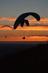 DSC_1781 (JustineChrl) Tags: sunset coucher de soleil auvergne france puydedome volcan montagne nature landscape paysage colors orange red blue sky clouds sun parapente parasailing nikon nikond3200 out
