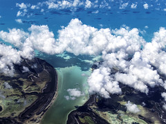 Clouds Over Turquoise Waters (LifeLover4) Tags: aerial caribbean northatlantic windowseat flying stickneydesign lifelover4 turquoise bahamas thebahamas