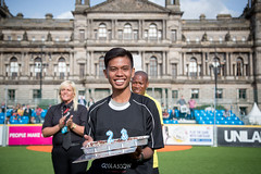 Homeless World Cup 2016 (Homeless World Cup Official) Tags: homelessworldcup hwc2016 aballcanchangetheworld glasgow jakas23rdbirthday soccer streetsoccer thisgameisreal referees jaka birthday celebration refereeprogramme scotland