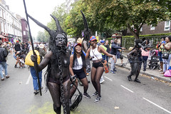 girl in chains (Mark Rigler UK) Tags: notting hill carnival 2016 london england party street girl dance festival carribean parade music bass candid people brazilian costume ladbroke grove westbourne scary black