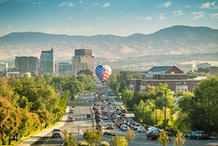 Downtown Boise (JGemplerPhotography) Tags: boise balloonclassic balloons hotairballoons