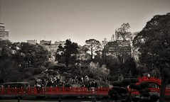 Crimson. (Wilickers) Tags: canon eos 60d culture south america color splash red desaturate travel photography buenos aires people architecture bridge structure