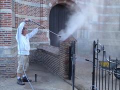 P9154707 (Hervormd-Sprang.nl) Tags: restauratie kerk muur voeg schoonmaken