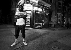 North Avenue, Baltimore (Blinkofanaye) Tags: north avenue baltimore night grocery corner store bw street