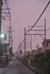 yokkaichi14893 (tanayan) Tags: mie yokkaichi japan nikon j1    kintetsu yunoyama evening   railway