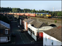 Runcorn Old Town, GBRf 66712 (00.32 Dagenham Dock - Garston Car Terminal) 17/08/16. (DigitAL46232) Tags: 66712 runcorn gbrf