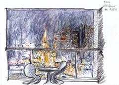 Melbourne CBD 4am final take (panda1.grafix) Tags: nightscape melbourne sketch crayon townscape