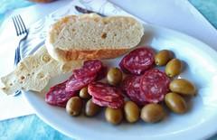 Appetisers /*v*/ (pandorahoshii) Tags: food appetiser salami olives